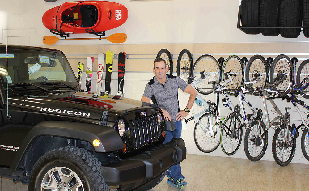 garage-organizer-kayak-bike-Richard-Mularski-Wasatch-Garage-Park City